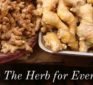 Ginger: The Herb For Everything? Dr. Robert W. Horovitz