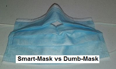Modified Blue Pleated Mask When Masks Are Mandatory